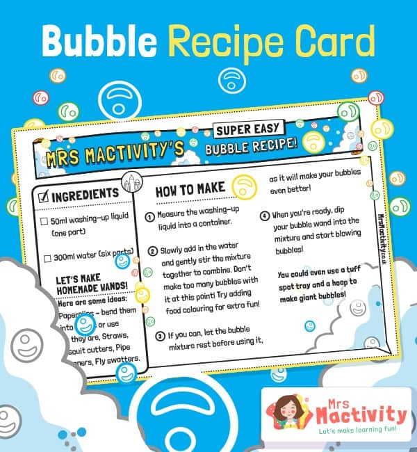 Bubble Mixture Recipe