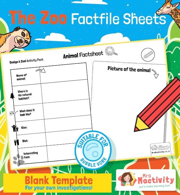 Animal Fact File Sheet Templates