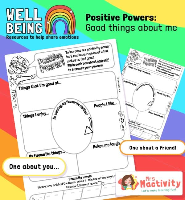 Pupil Wellbeing - Positive Power Activity Sheets
