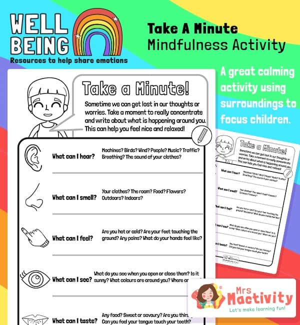 Take a Minute Mindfulness Activity