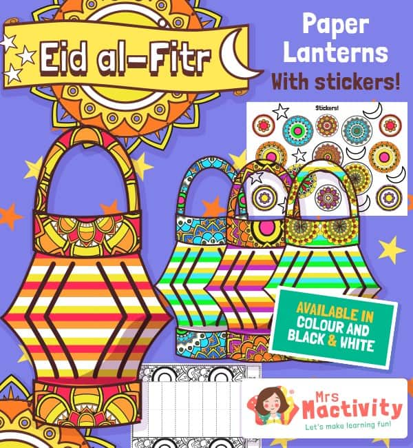 Eid Lantern Template