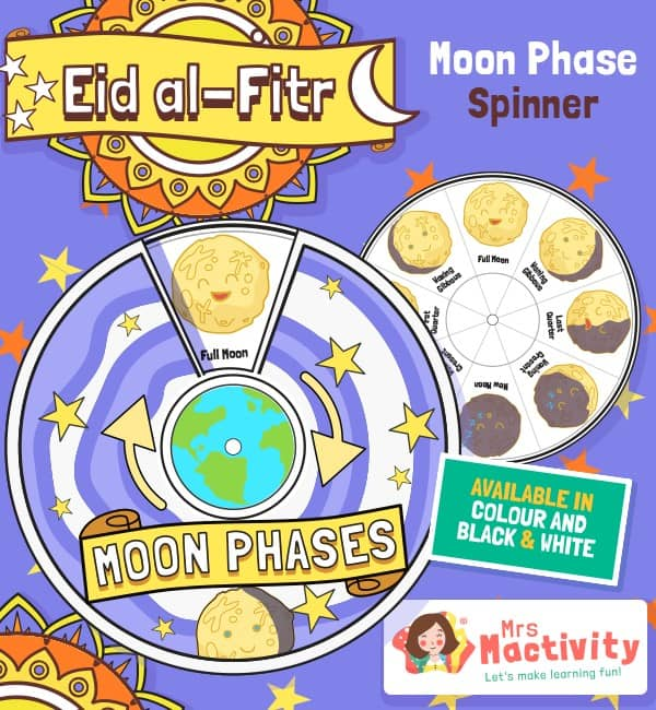Eid Moon Phases Spinner Activity