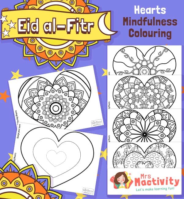 Eid and Ramadan Mindfulness Colouring Sheets