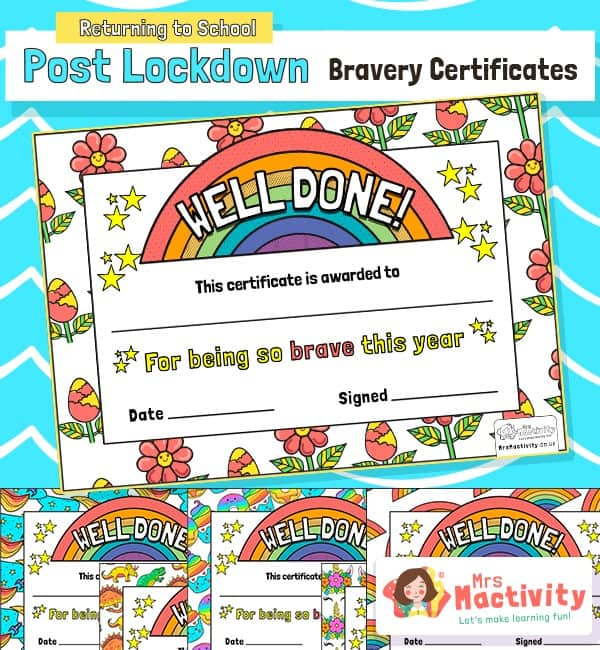 Post Lockdown Bravery Certificates