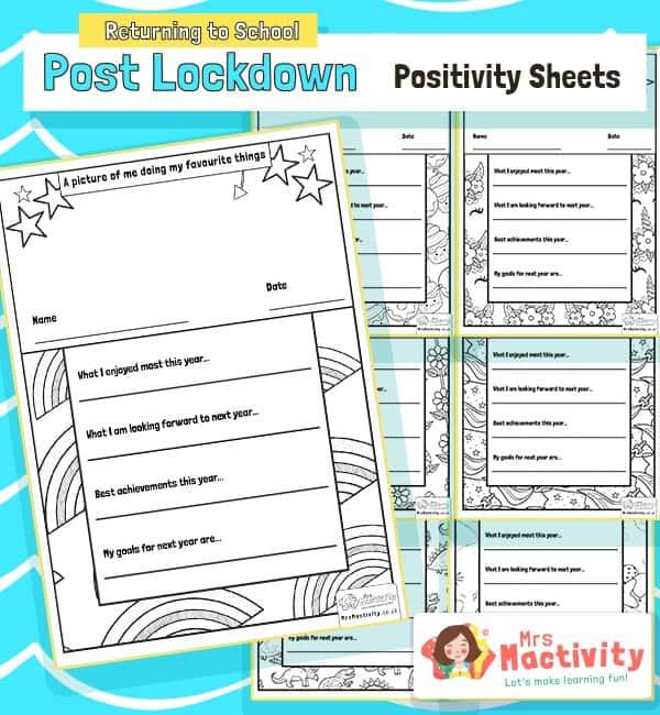Post Lockdown Positivity Activity Sheets
