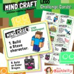 Minecraft lego challenge cards