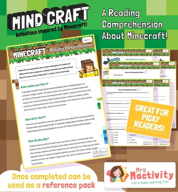 Minecraft reading comprehension
