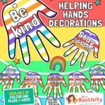 Helping Hands Window Decorations