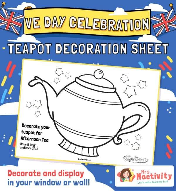 VE Day Celebration Teapot Decoration Activity