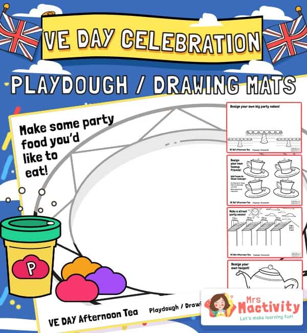 VE Day Celebration Playdough Activity