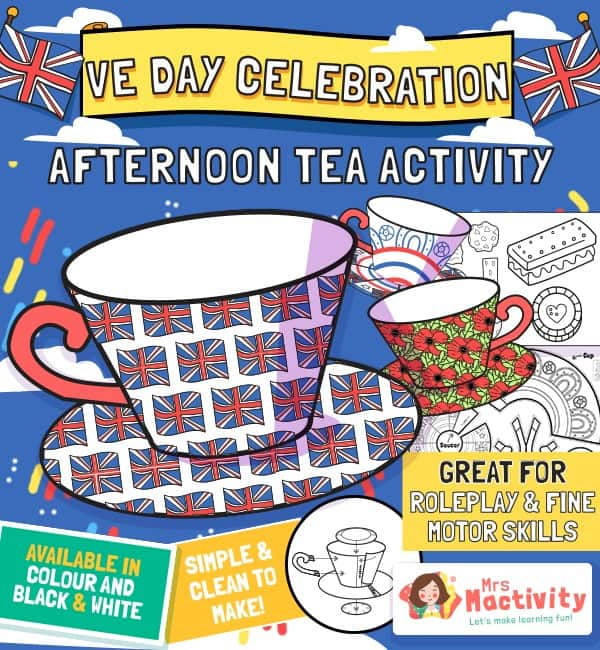VE Day Celebration Afternoon Tea Craft Activity