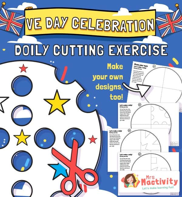 VE Day Celebration Doily Cutting Exercise
