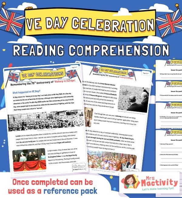 VE Day Reading Comprehension