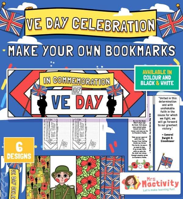 VE Day Celebration Bookmarks