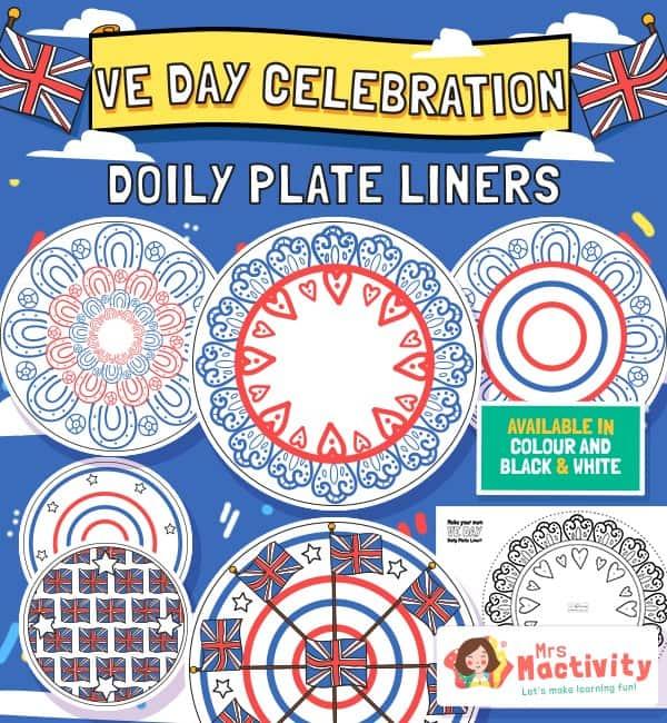 VE Day Celebration Doily Plate Liners