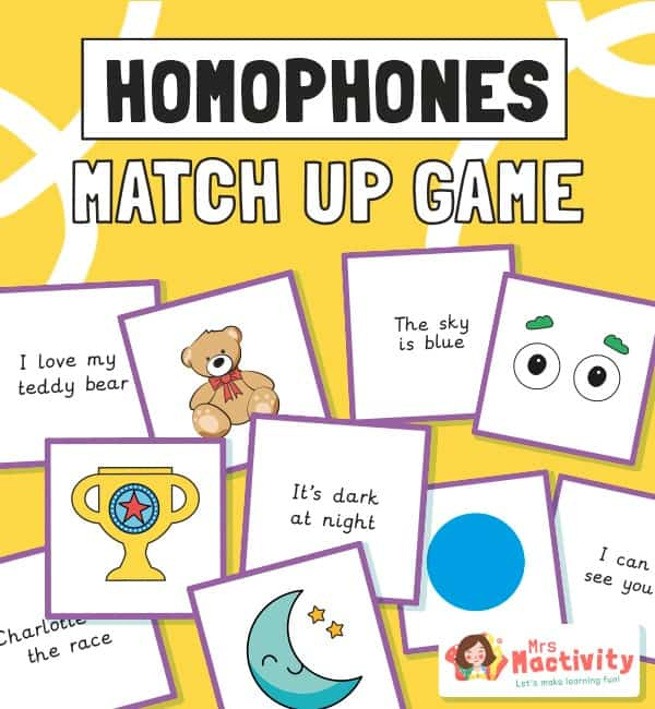 Homophone sentence and Picture Matching Game