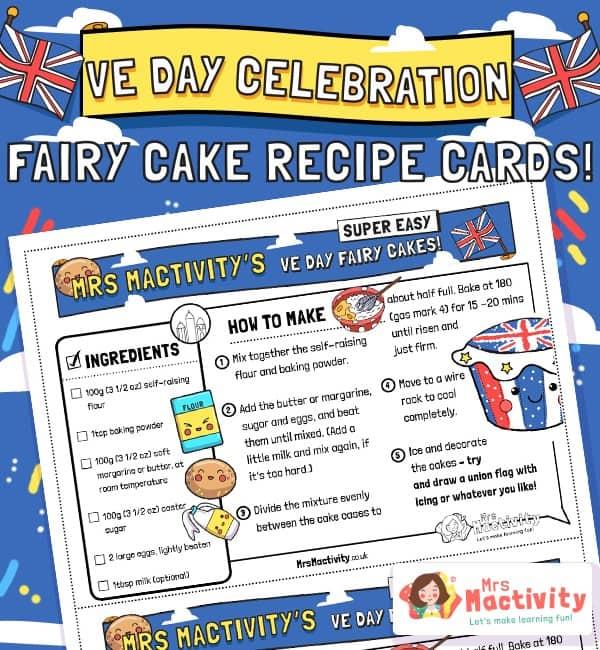 VE Day Celebration Fairy Cake Recipe