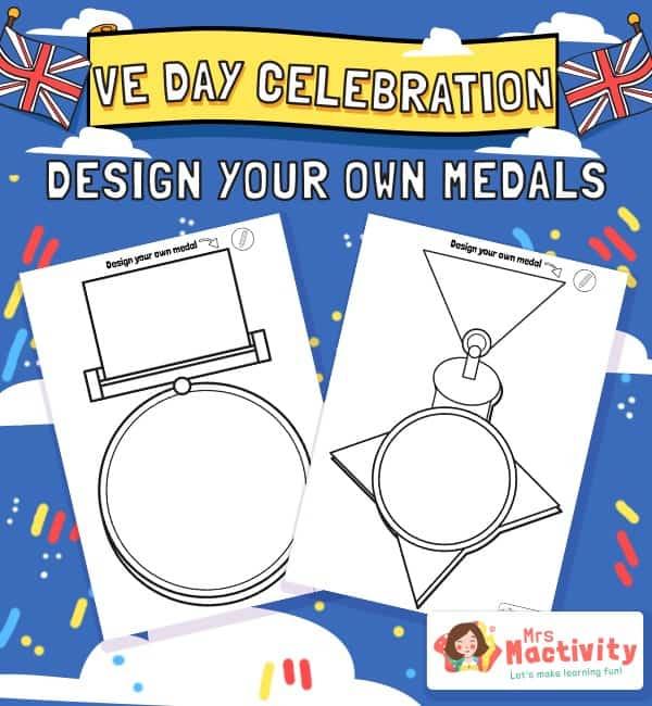 VE Day Celebration Medal Template