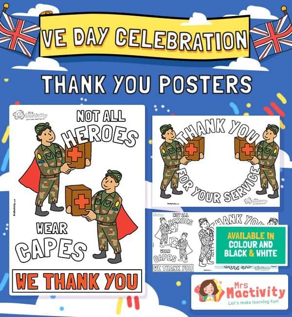 VE Day Celebration Thank You Posters