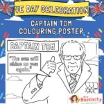 Captain Tom Colouring Posters