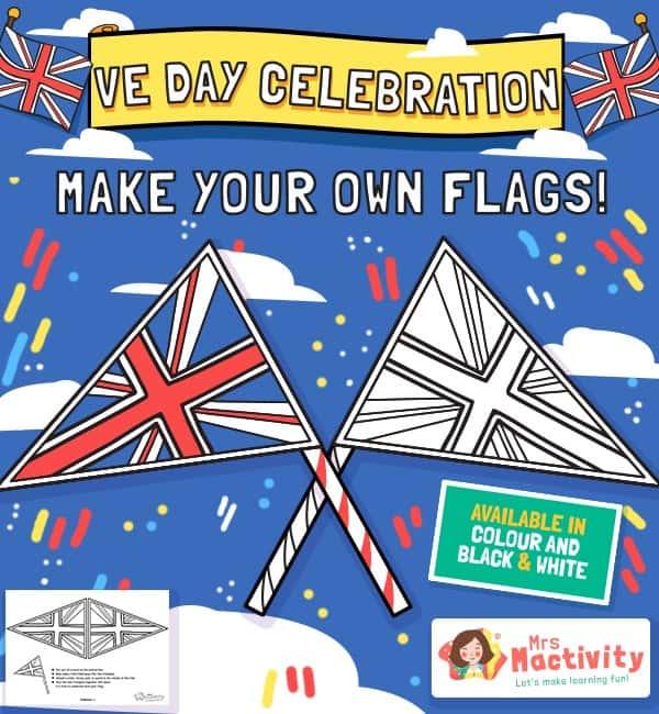 VE Day Celebration Flags