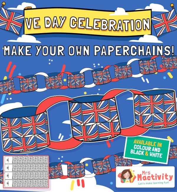 VE Day Celebration Paperchains