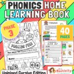 unjoined cursive phonics phase 3 booklet