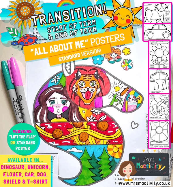 Transition Day Art Activity Sheets