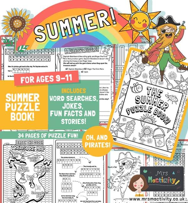 Summer Puzzle worksheets Ks2 pdf