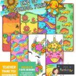 end of term bookmarks for kids