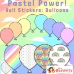 Pastel Classroom Display Balloons