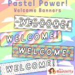 Pastel Classroom Display Welcome Banners