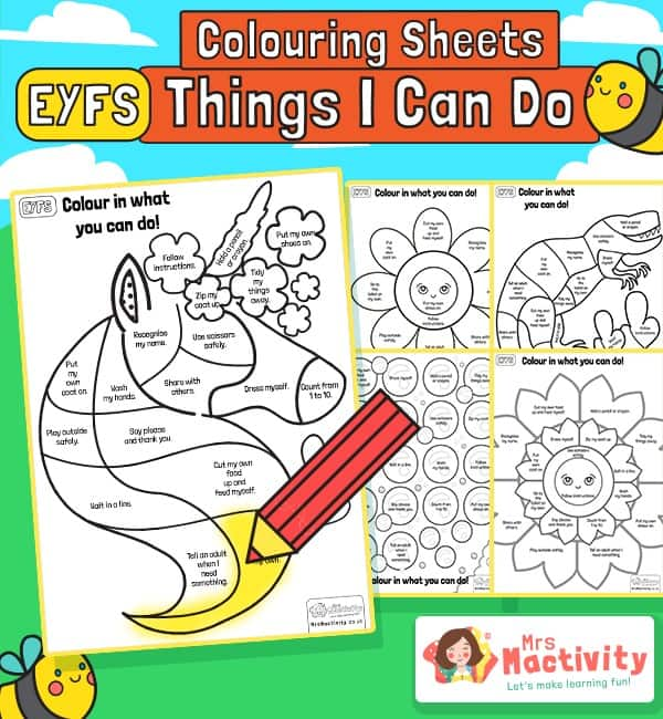 "Starting School Readiness ""I Can"" Activity"