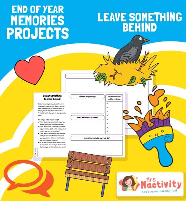 End of Year Memories Project - Legacy Activity