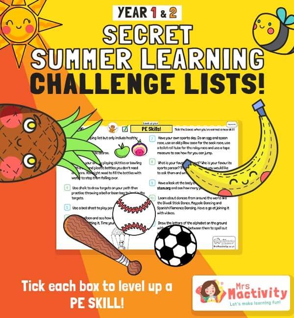 KS1 (Age 5-7) PE Summer Catch-up Activities