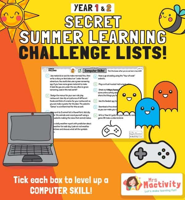 KS1 (Age 5-7) Computing Summer Catch-up Activities
