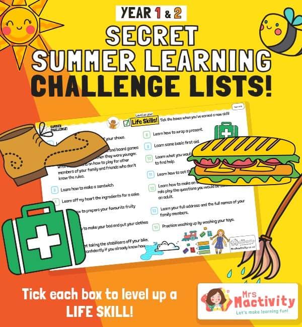 KS1 (Age 5-7) Life Skills Summer Catch-up Activities