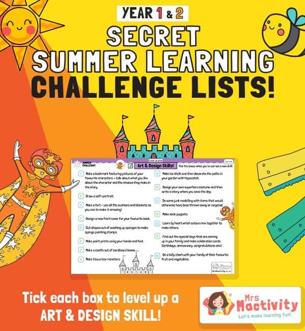 KS1 (Age 5-7) Art Summer Catch-up Activities