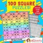 100 Square Puzzle Activities
