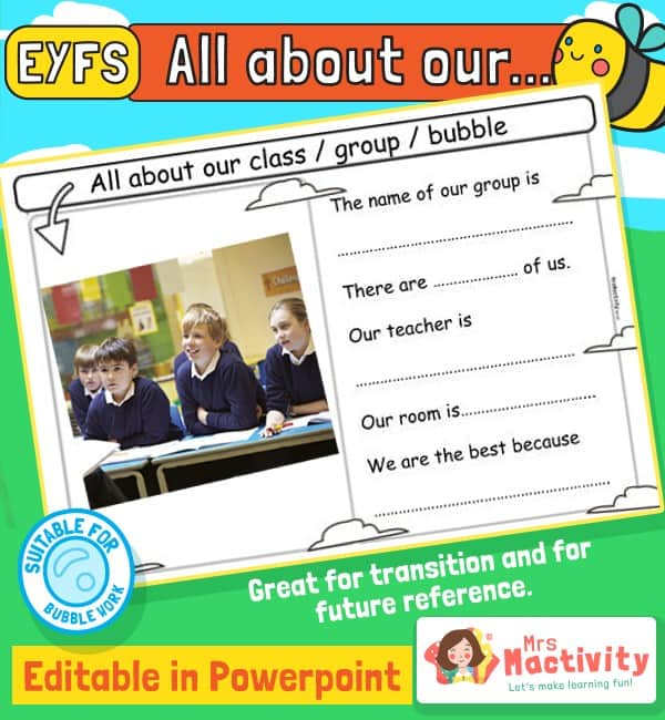 All About Our Class Editable PowerPoint Slide