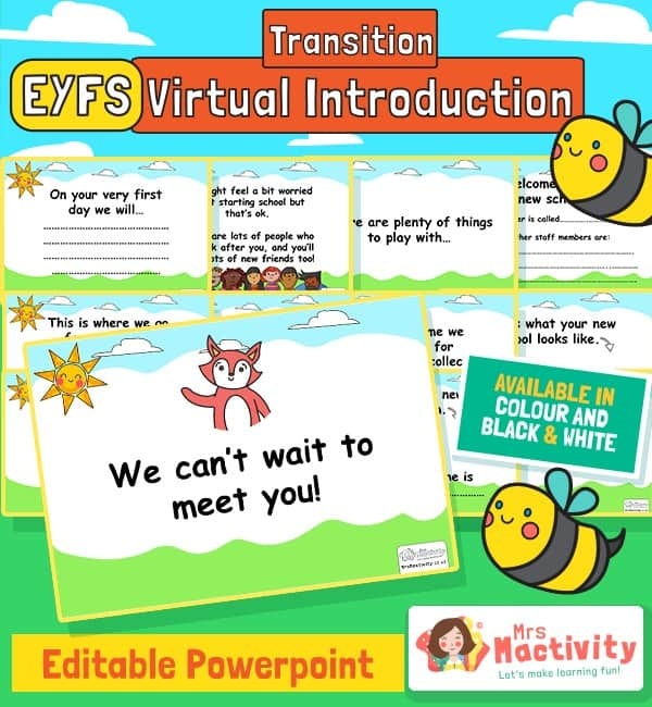 Starting School Editable PowerPoint - Virtual Transition