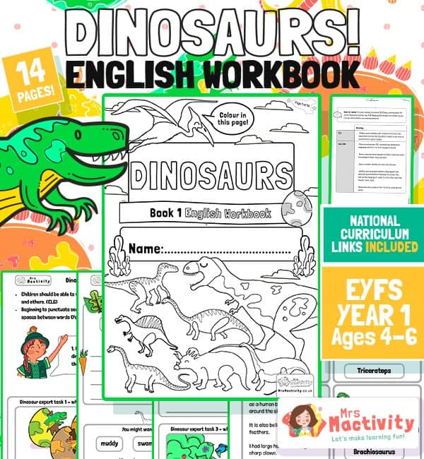 Age 4-6 Dinosaur English Workbook