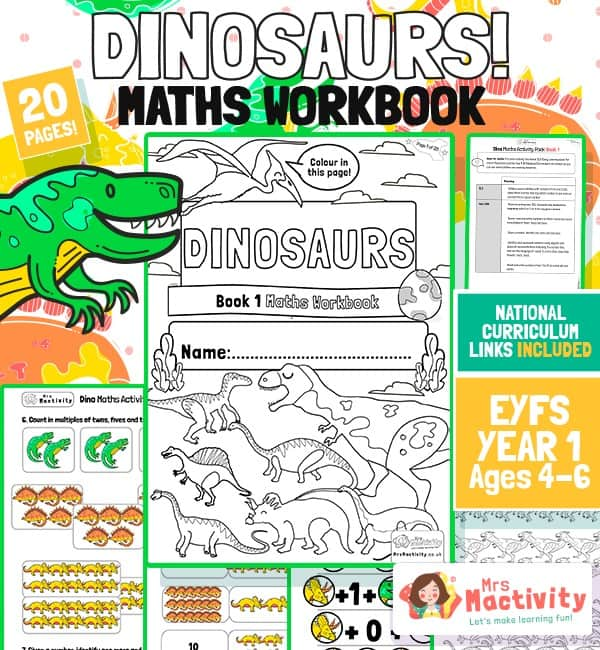 Age 4-6 Dinosaur Maths Workbook