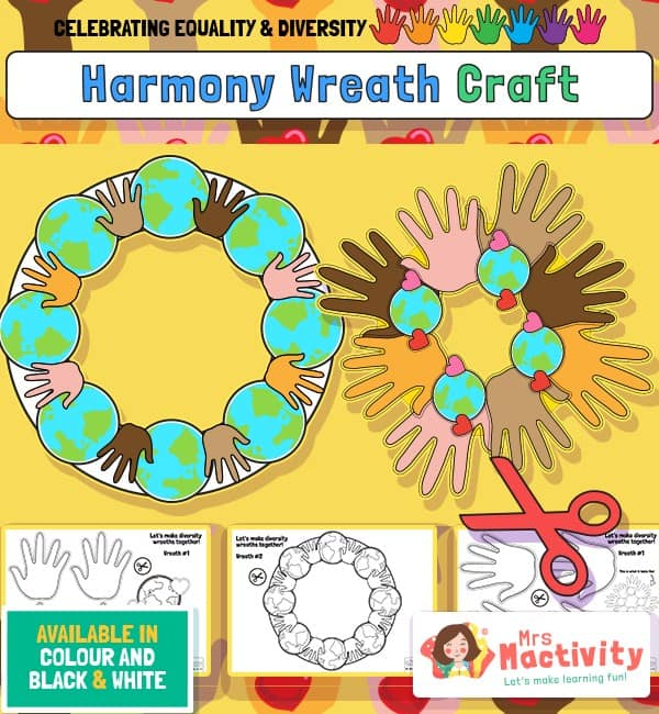 Equality and Diversity Harmony Wreath Craft