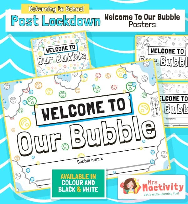 Welcome to our Bubble Display Poster