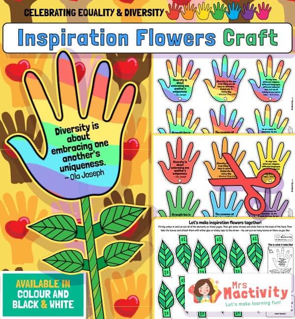 Celebrating Equality and Diversity Inspirational Flower Craft