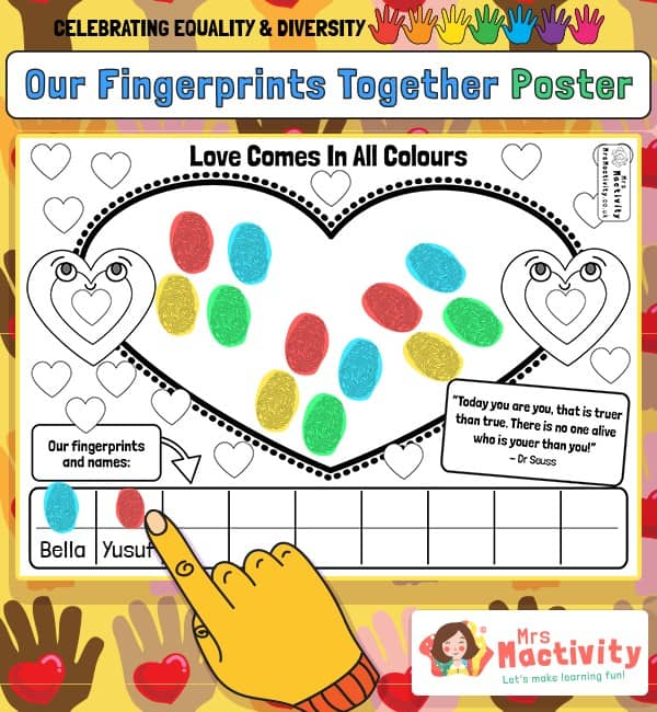 Celebrating Equality and Diversity Fingerprints Activity