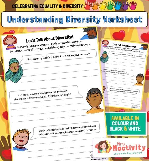 Understanding Diversity Worksheet