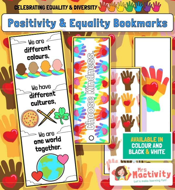 Celebrating Equality and Diversity Bookmarks - Colour