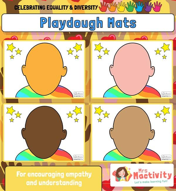 Celebrating Equality and Diversity Playdough Mats